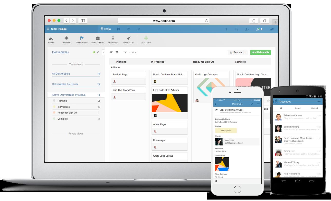 Affärssystem, projekt och sociala flöden. En plats. En app.