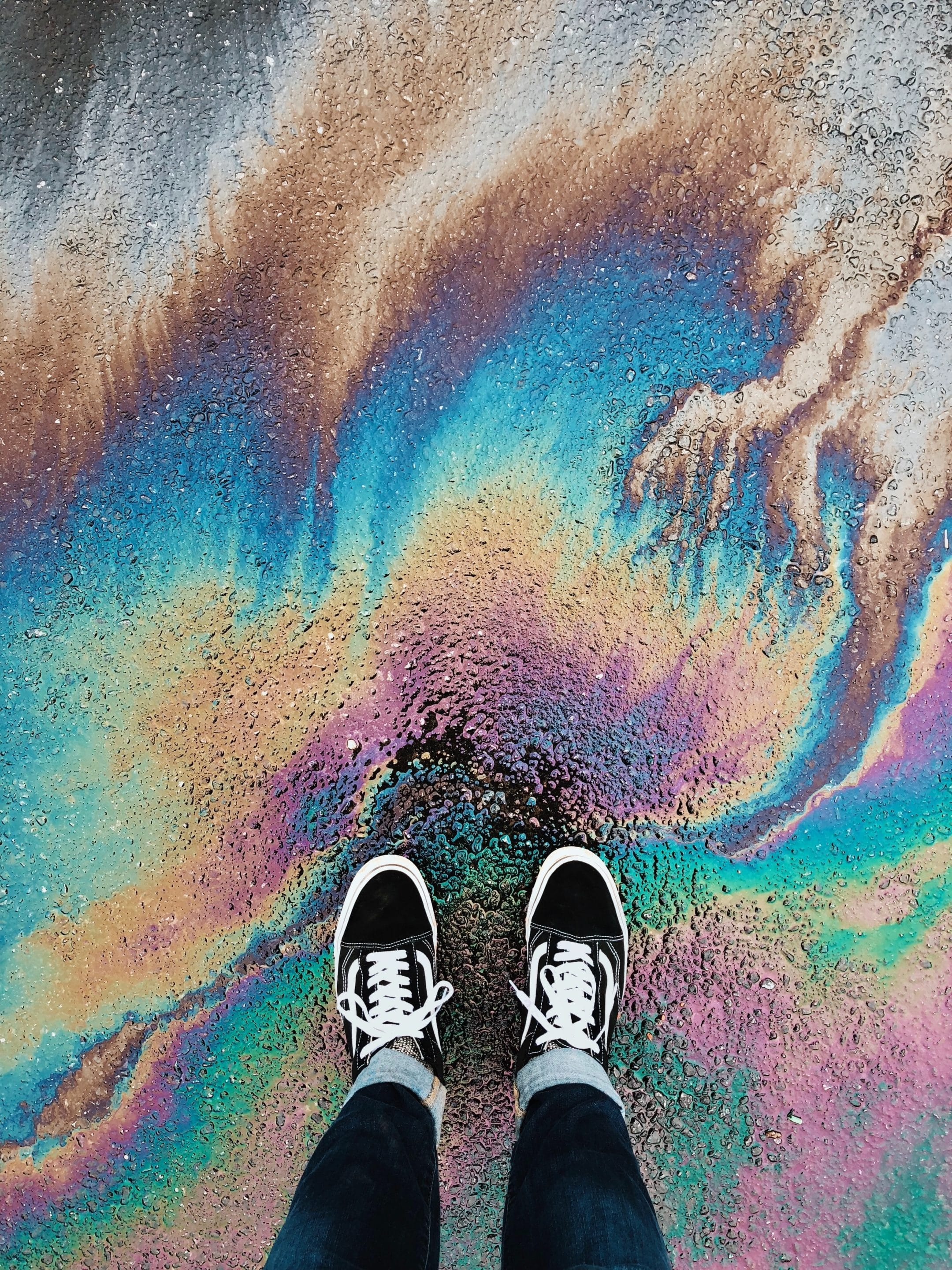 oil on asphalt